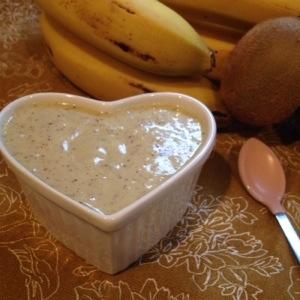 #babyfood #babyfoodrecipe #baby #food #recipe #kiwi #banana #yogurt #parfait